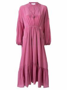 Christian Wijnants gathered detail shift dress - Purple