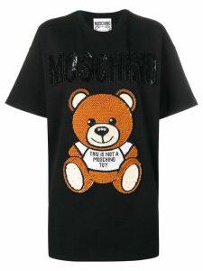 Moschino logo T-shirt dress - Black