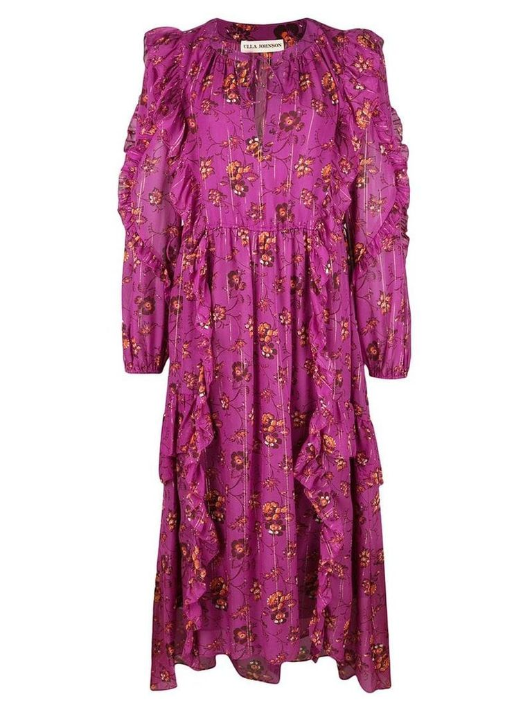 Ulla Johnson floral print dress - Purple