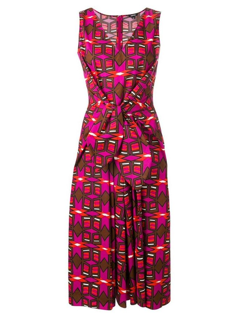 Aspesi printed knot dress - Pink