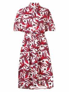 Kenzo bird print dress - Red