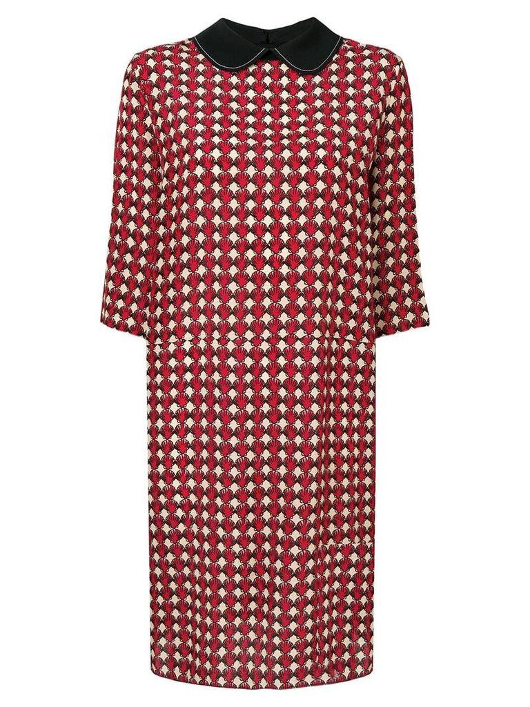 Marni micro-pattern dress - Red