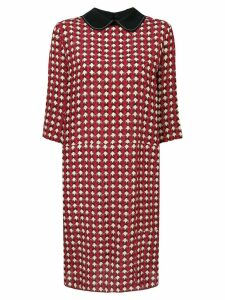 Marni micro-pattern dress - Red