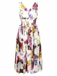 Dolce & Gabbana elasticated waist dress - White