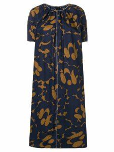 Marni two-tone print dress - Blue