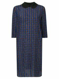 Marni micro-pattern dress - Blue