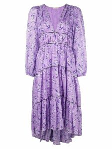 Ulla Johnson floral print midi dress - Purple