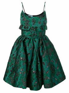 Prada short jacquard dress - Green