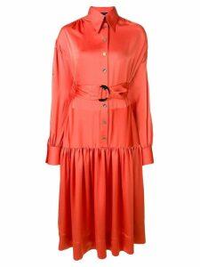 Eudon Choi belted shirt dress - Orange