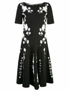 Oscar de la Renta contrast print dress - Black