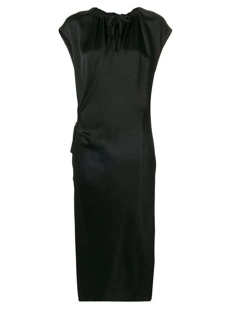Joseph draped satin dress - Black