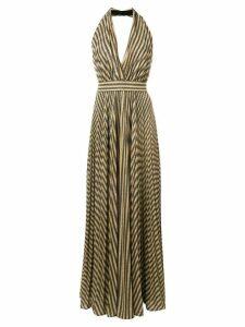 Philosophy Di Lorenzo Serafini striped halterneck maxi dress - Black