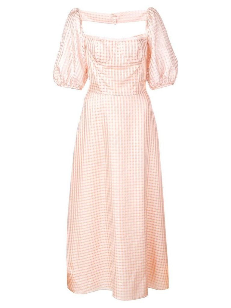 Markarian gingham dress - Pink