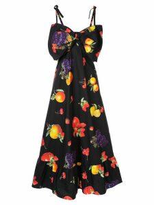 MSGM fruit print maxi dress - Black