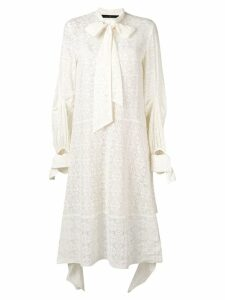 Rokh lace panelled dress - White