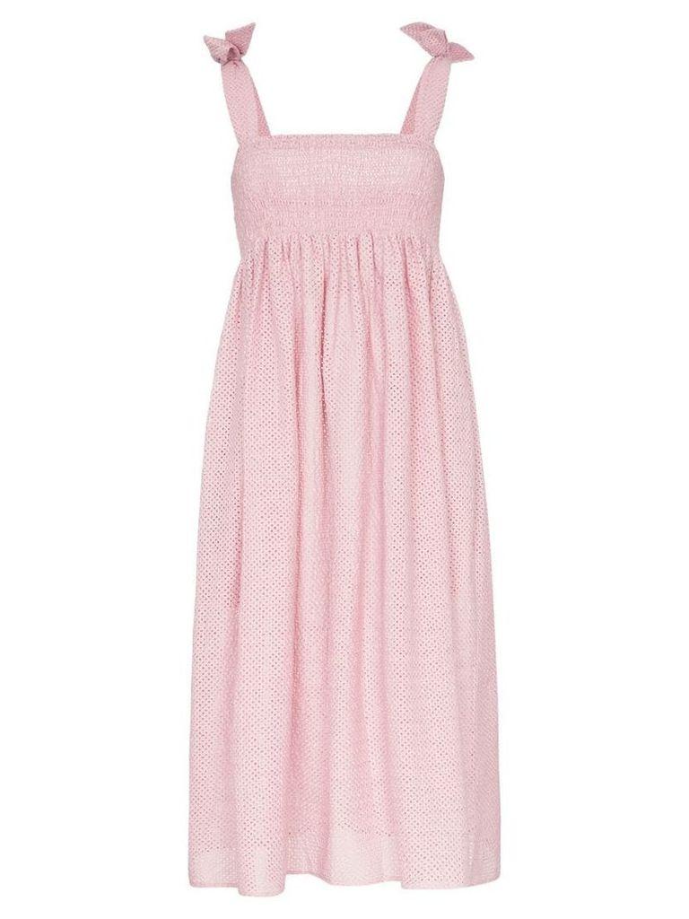 Marysia Sicily tie strap smock dress - Pink