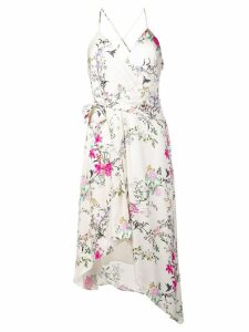 Equipment floral asymmetric dress - White