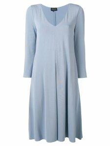 Giorgio Armani v-neck drape dress - Blue
