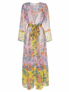 We Are Leone Sheer floral robe - Pink
