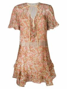 Coach retro floral print dress - Brown