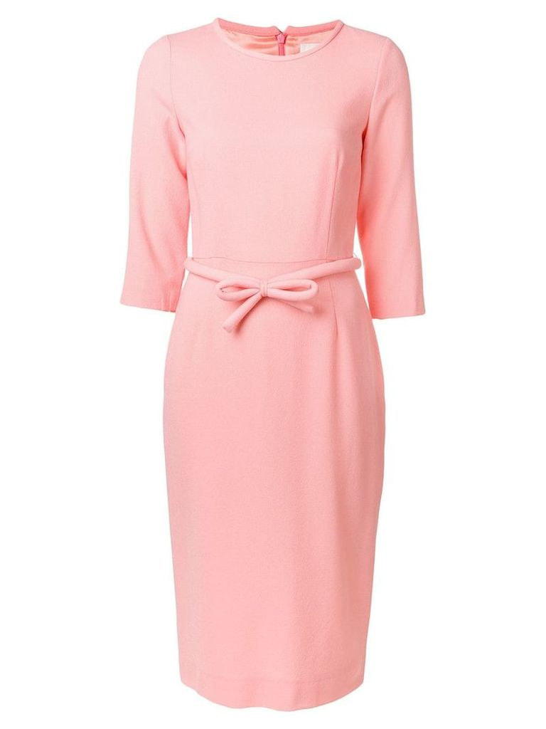 Goat Harriet bow fitted dress - Pink
