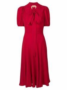 Nº21 pussybow midi dress - Red