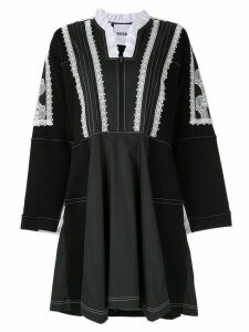 Koché ruffle neck dress - Black