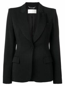 Alberta Ferretti wide lapel blazer - Black