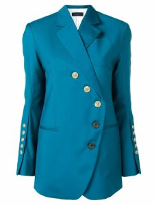Eudon Choi asymmetric button blazer - Blue