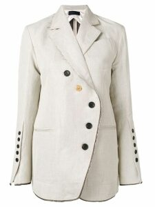 Eudon Choi asymmetric button blazer - Neutrals