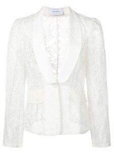Marchesa embroidered blazer - White