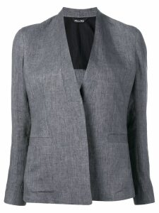 Sartorial Monk collarless fitted blazer - Grey