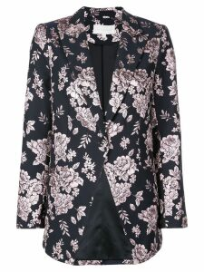 Michelle Mason boxy floral embroidered blazer - Black