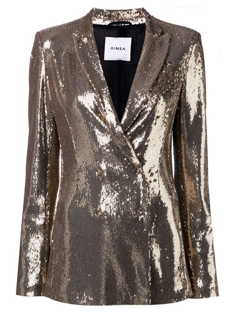Ainea sequin double breasted blazer - Gold