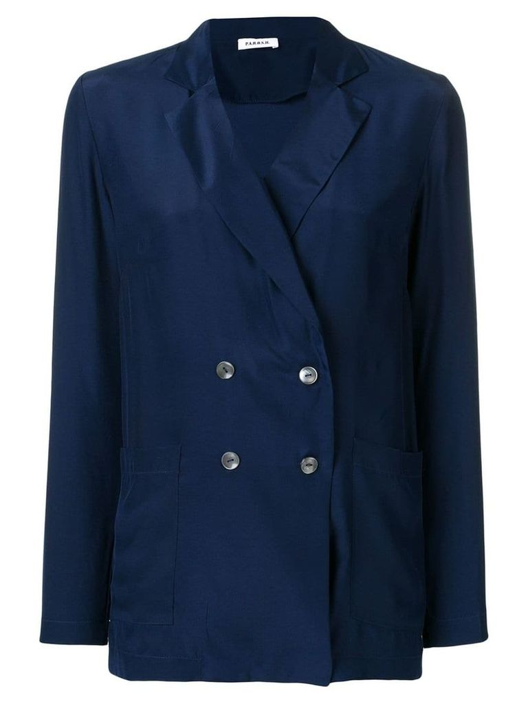 P.A.R.O.S.H. double breasted blazer - Blue