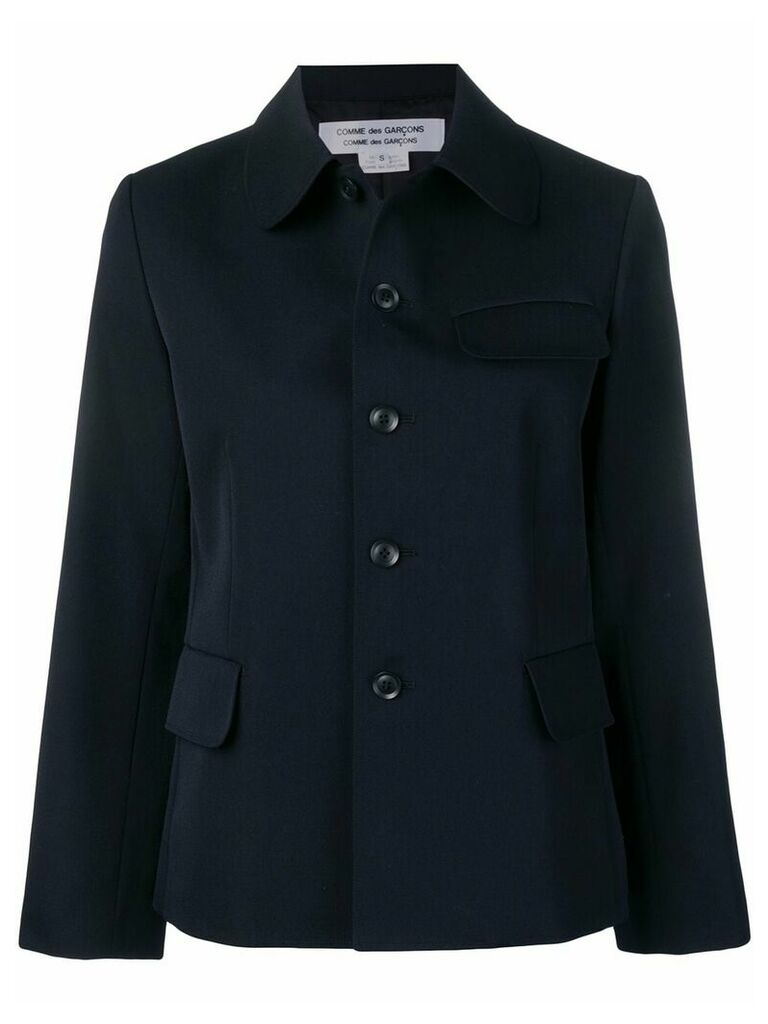 Comme Des Garçons Comme Des Garçons short button jacket - Blue