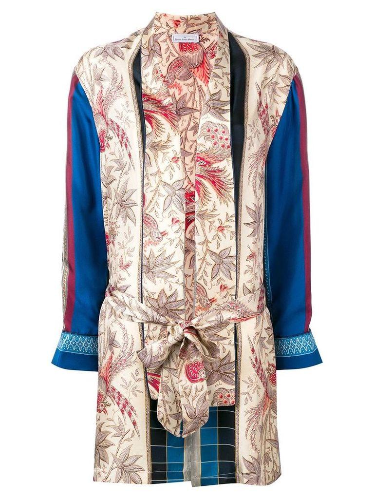 Pierre-Louis Mascia multi-print jacket - Neutrals