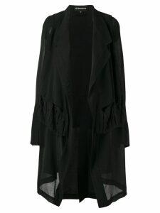Ann Demeulemeester asymmetric hem jacket - Black