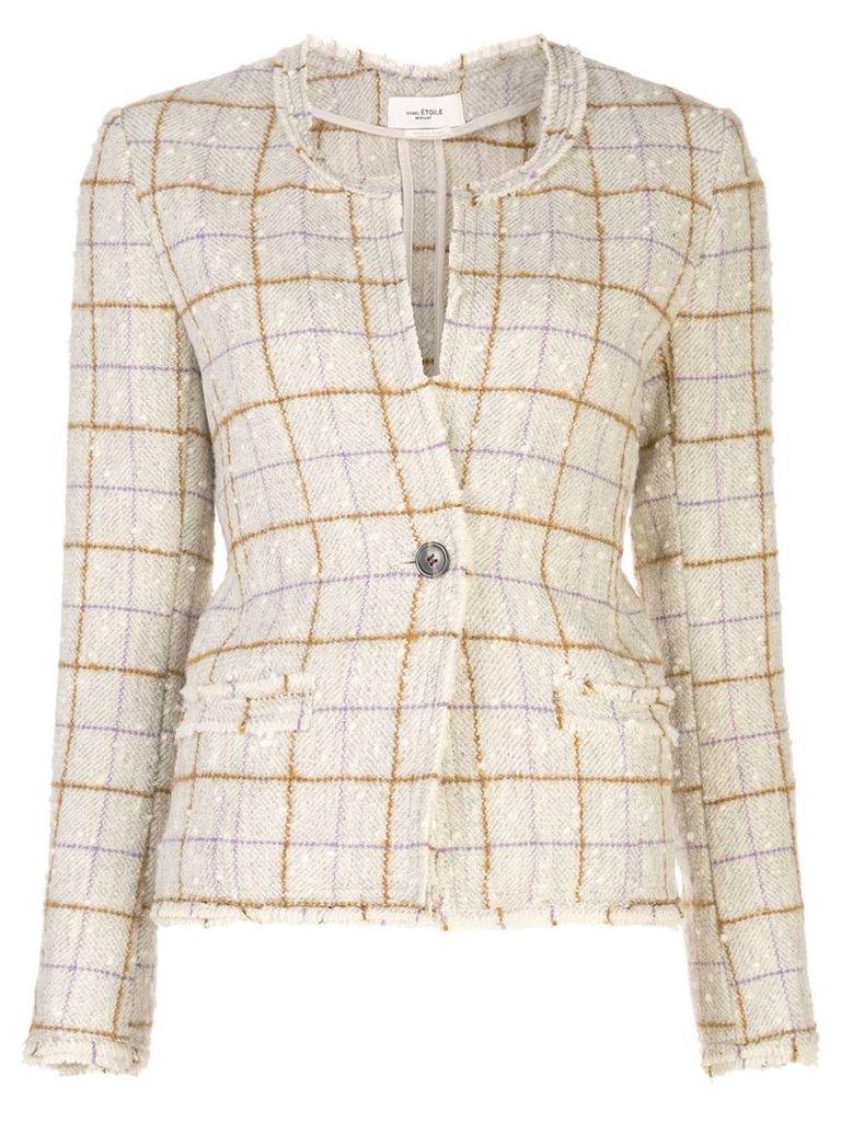 Isabel Marant Étoile checked bouclé-tweed jacket - Brown