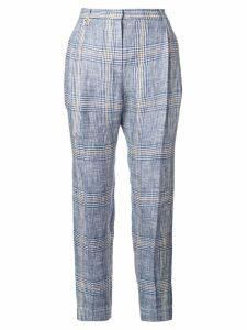 Lorena Antoniazzi plaid button waistcoat - Blue