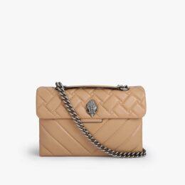 Kurt Geiger London Leather Kensington - Camel Leather Shoulder Bag