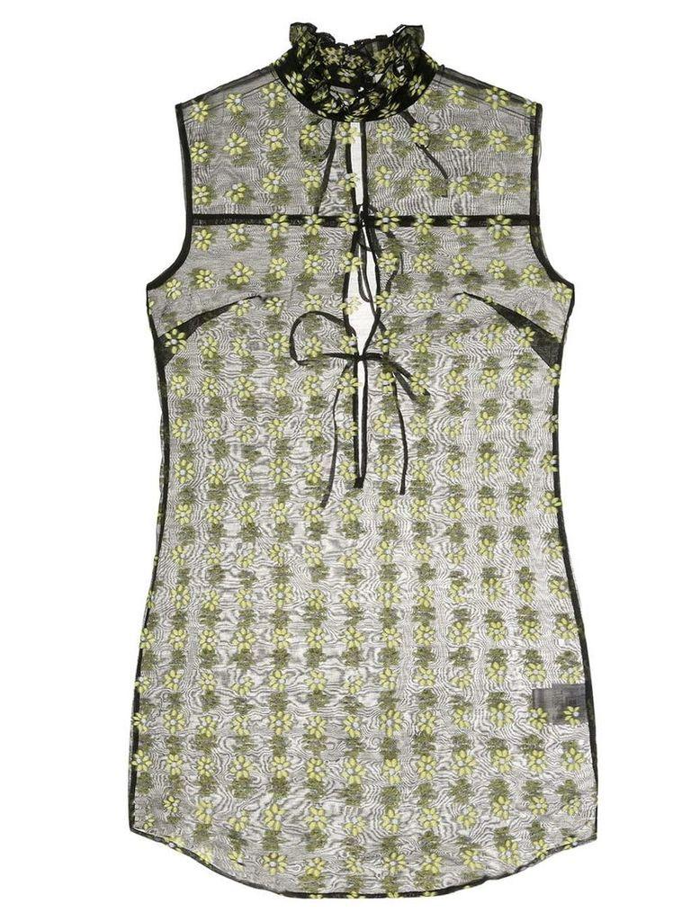 Cecilie Bahnsen high neck floral blouse - Black