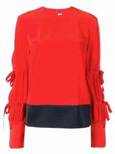 Victoria Victoria Beckham sleeve tie fastenings blouse - Red