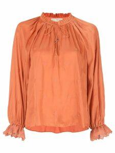 Ulla Johnson embroidered blouse - Orange