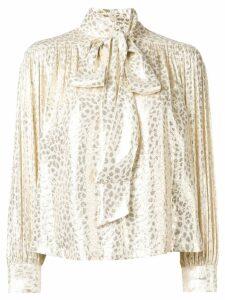Masscob metallic printed blouse - Gold
