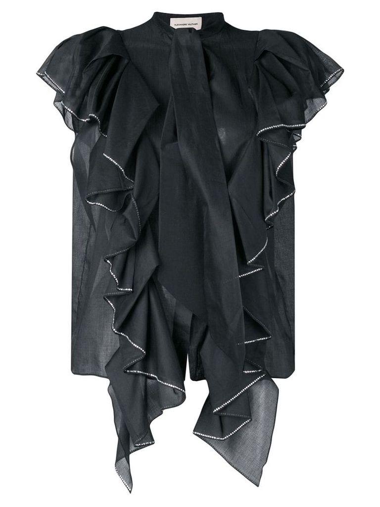 Alexandre Vauthier crystal-embellished shirt - Black