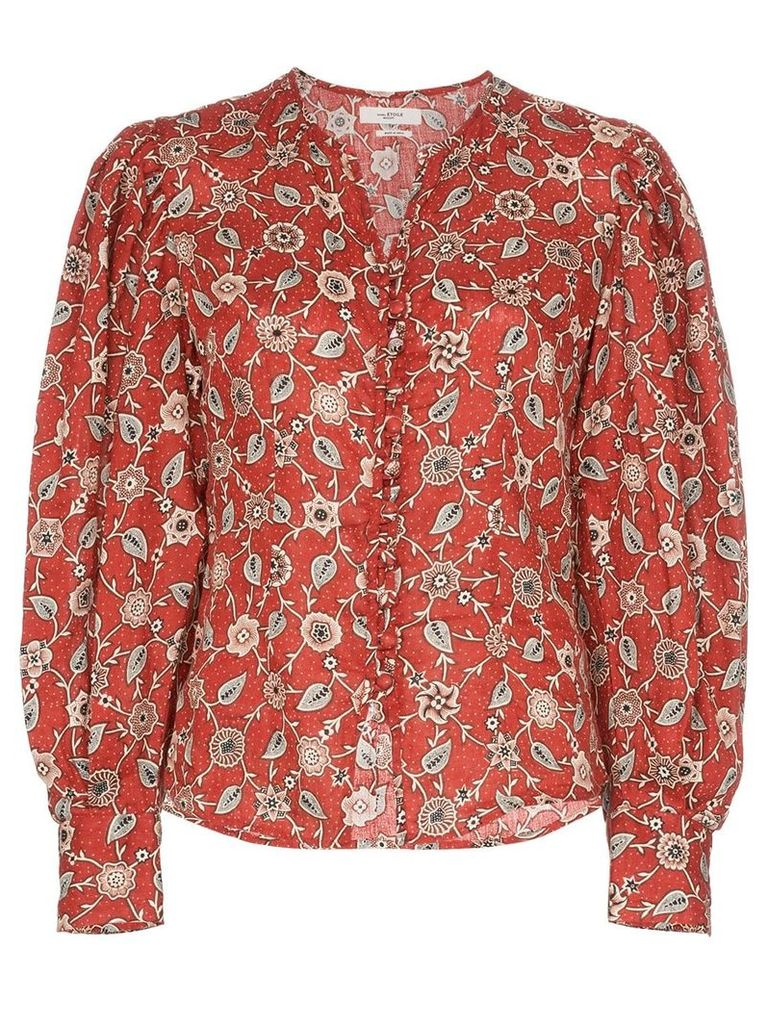 Isabel Marant Étoile paisley and floral print linen blouse - Red