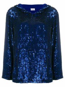 P.A.R.O.S.H. sequin shift top - Blue