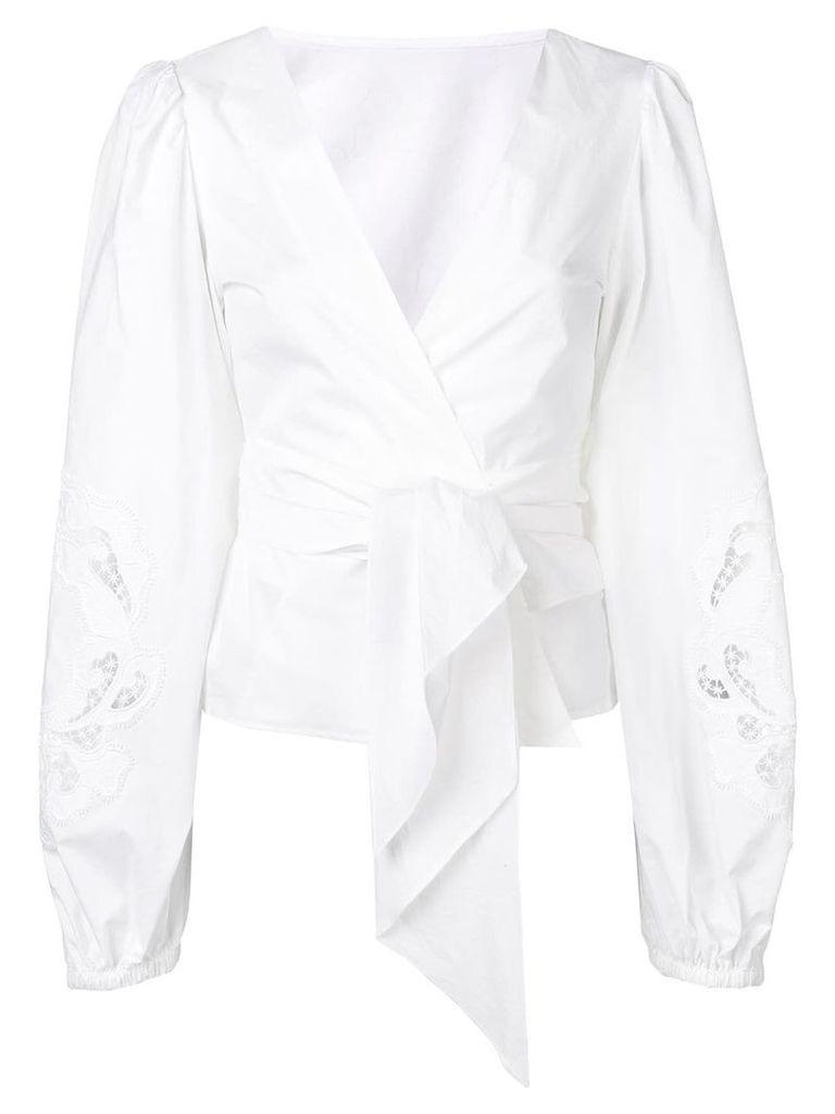 P.A.R.O.S.H. tie waist blouse - White