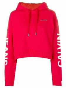 Calvin Klein Jeans logo-print hoodie - Red
